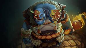 Фотографии DOTA 2 Ogre Magi Орки Игры