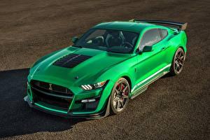 Картинки Ford Зеленых Металлик Mustang автомобиль
