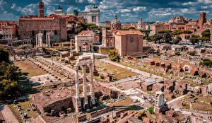 Картинка Италия Рим Руины Известные строения Здания Palatine Hill