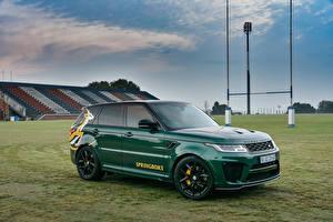 Картинка Range Rover Стайлинг Зеленая Металлик 2019 Sport SVR Springboks by SVO