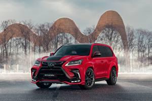 Картинки Lexus Красные LX570 Khann 3 Design