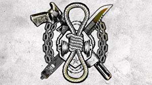Картинка Логотип эмблема Отряд самоубийц 2016 Татуировки Slipknot Фильмы