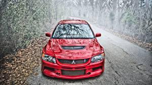 Фото Мицубиси Красная HDRI Металлик Lancer Evolution IX авто
