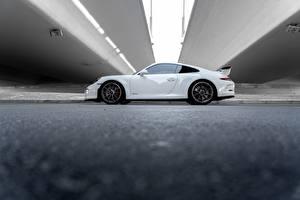 Картинки Порше Белая Сбоку 911 GT3 RS Авиация
