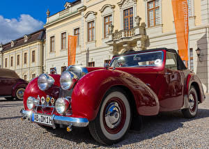 Картинка Старинные Красных Металлик 1947 Triumph 1800 Roadster машины