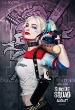 Обои Отряд самоубийц 2016 Харли Квинн герой Марго Робби Бейсбольная бита Harley Quinn кино Знаменитости Девушки