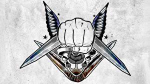 Картинка Отряд самоубийц 2016 Логотип эмблема Тату Captain Boomerang кино