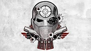 Картинки Отряд самоубийц 2016 Логотип эмблема Тату Deadshot Фильмы