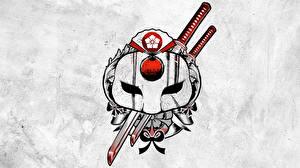 Фотографии Отряд самоубийц 2016 Логотип эмблема Тату Katana кино