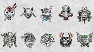 Фотография Отряд самоубийц 2016 Логотип эмблема Татуировка кино