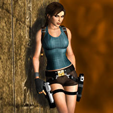 Фото Tomb Raider Tomb Raider Legend Пистолет Лара Крофт компьютерная игра 3D_Графика