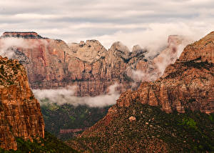 Фото Штаты Зайон национальнай парк Парки Гора Каньон