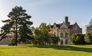 Фото Великобритания Дома Газон Деревьев Greys Court