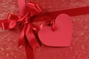 Картинки День всех влюблённых Сердечко Бантики Красная