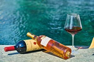 Картинки Вино Бутылка Бокал Пища