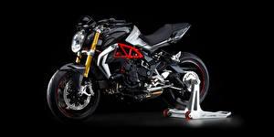 Обои для рабочего стола Черный фон Сбоку 2015-20 MV Agusta Brutale 800 RR мотоцикл