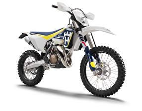 Картинки Белый фон Белый 2016-20 Husqvarna TX 125 Мотоциклы