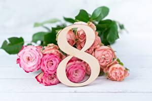 Обои Букеты Розы 8 марта Цветы картинки