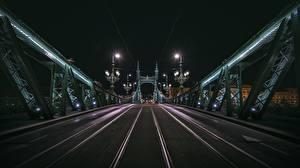 Фотографии Мост Венгрия Будапешт Ночные