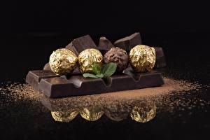 Фотографии Шоколад Шоколадка Конфеты Шар Пища