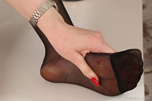 Фотографии Вблизи Пальцы Рука Ног Колготок девушка