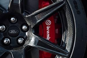 Обои для рабочего стола Крупным планом Ford Колесо Карбоновые Disk, Mustang Shelby GT500 2019 Автомобили