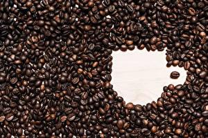 Картинка Кофе Много Зерна Кружки Еда
