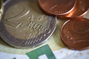 Обои для рабочего стола Монеты Деньги Евро 2