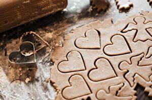 Обои Печенье Ангелы Сердце Еда