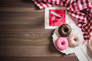 Картинка Пончики Втроем Доски Пища