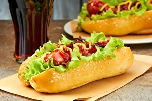 Обои Быстрое питание Хот-дог Овощи Еда