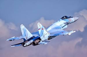 Картинка Самолеты Истребители Российские Су-35