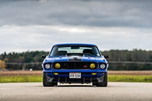 Фотографии Форд Спереди Синяя Mustang 1969 Mach 1, By RingBrothers авто
