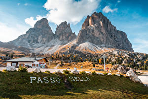 Фото Италия Горы Слова Альп Passo Sella, Dolomites