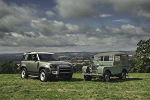 Картинки Range Rover Ретро SUV 2 Land Rover Series I, Land Rover Defender машина