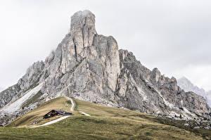Фотография Горы Италия Dolomites, La Gusela Peak Природа