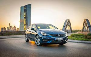 Фотографии Opel Голубая Металлик 2019-20 Astra Ultimate Автомобили