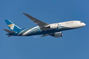 Фотография Самолеты Пассажирские Самолеты Boeing Сбоку Oman Air, 787-8 Авиация