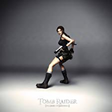 Картинки Tomb Raider Пистолеты Tomb Raider The Angel of Darkness Лара Крофт компьютерная игра Девушки