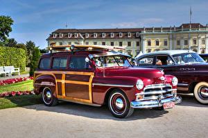 Фотография Плимут Винтаж Бордовая 1950 Woody авто