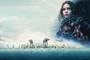 Картинки Звездные войны Изгой-один. Звёздные войны: Истории Фелисити Джонс Клоны солдаты кино Знаменитости
