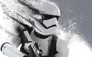 Обои Звездные войны Звёздные войны: Пробуждение Силы Воины Клоны солдаты Солдат Stormtrooper