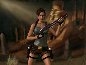 Фотография Tomb Raider Tomb Raider Anniversary Лара Крофт Игры 3D_Графика Девушки