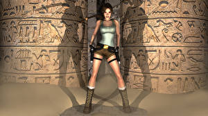 Обои Tomb Raider Tomb Raider Legend Лара Крофт Игры 3D_Графика Девушки