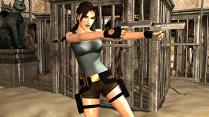 Фотография Tomb Raider Tomb Raider Legend Пистолеты Лара Крофт компьютерная игра