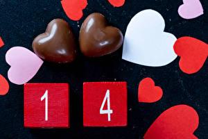 Фото День святого Валентина Конфеты Шоколад Сердечко Пища