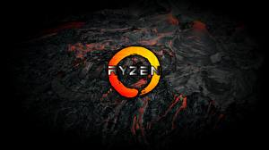 Фото AMD Логотип эмблема Ryzen