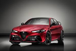 Картинка Альфа ромео Красная Металлик Седан Giulia, GTAm, 2020 авто