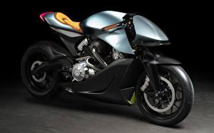 Фотография Астон мартин Сбоку AMB 001, Brough Superior Мотоциклы