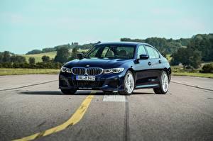 Обои BMW Асфальта Синие Металлик 3-series, Alpina, 2010-20, G20, B3 Автомобили